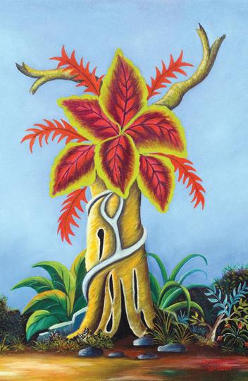 Renovusvitae (2001, óleo sobre tela, 59 x 79 cm): estética do agigantamento