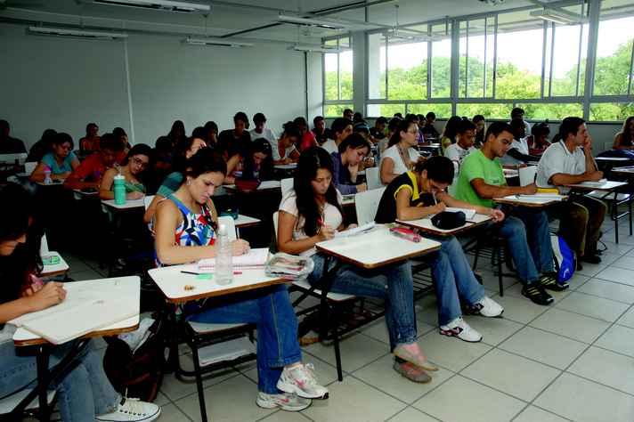 Sala de aula no campus Pampulha: apoio em várias frentes