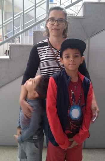 Vanda e os filhos: