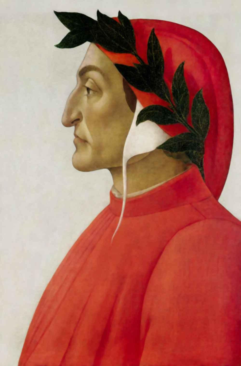 Retrato de Dante Alighieri, feito por Sandro Botticelli