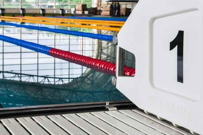 Detalhe da piscina olímpica do Centro de Treinamento Esportivo, que contribuiu para que a UFMG figurasse entre as 50 melhores universidades do mundo em esportes