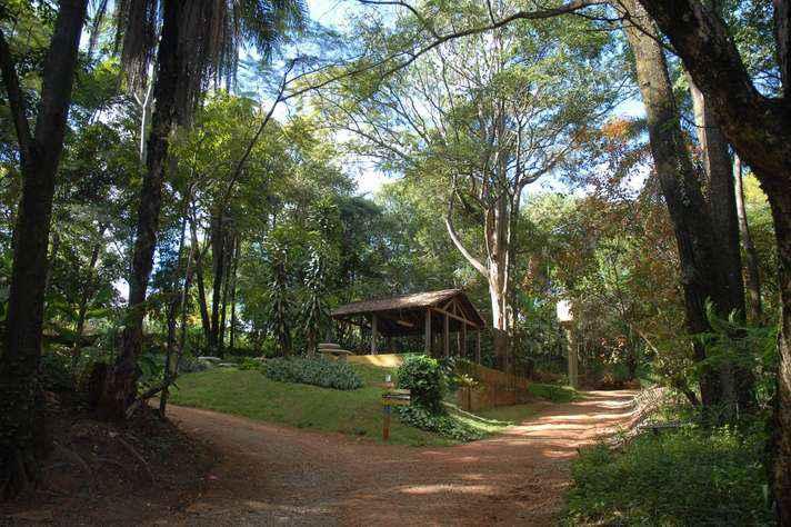 Trilhas da Estação Ecológica UFMG, no campus Pampulha