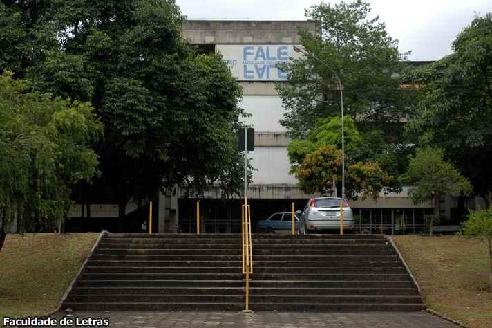 Faculdade de Letras,. no campus Pampulha