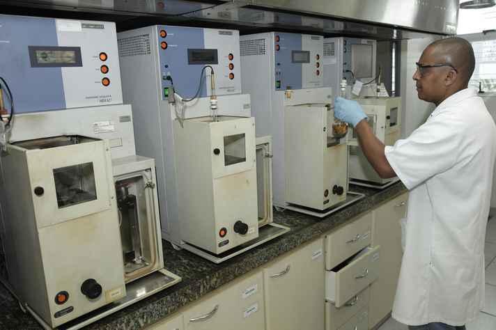 Instalações do Laboratório de Ensaio de Combustíveis, que abrigará o treinamento