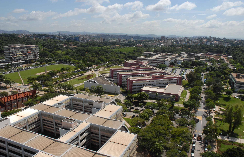 Imagem aérea do campus Pampulha da UFMG