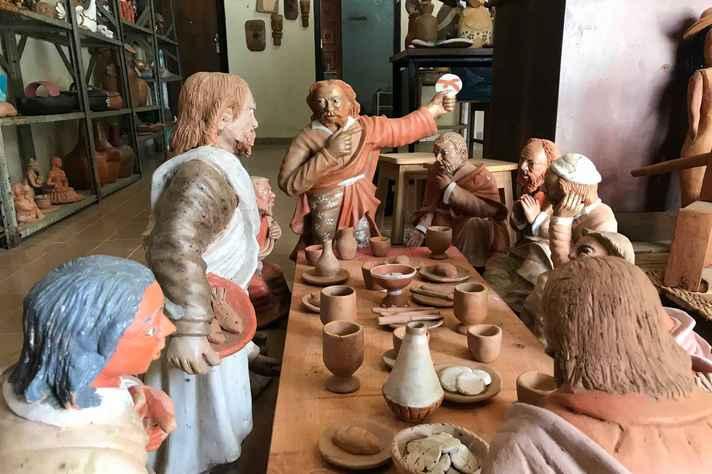 Trabalho de Marcinho, um dos artesãos da Feira, já pode ser conhecido pelas redes sociais do projeto