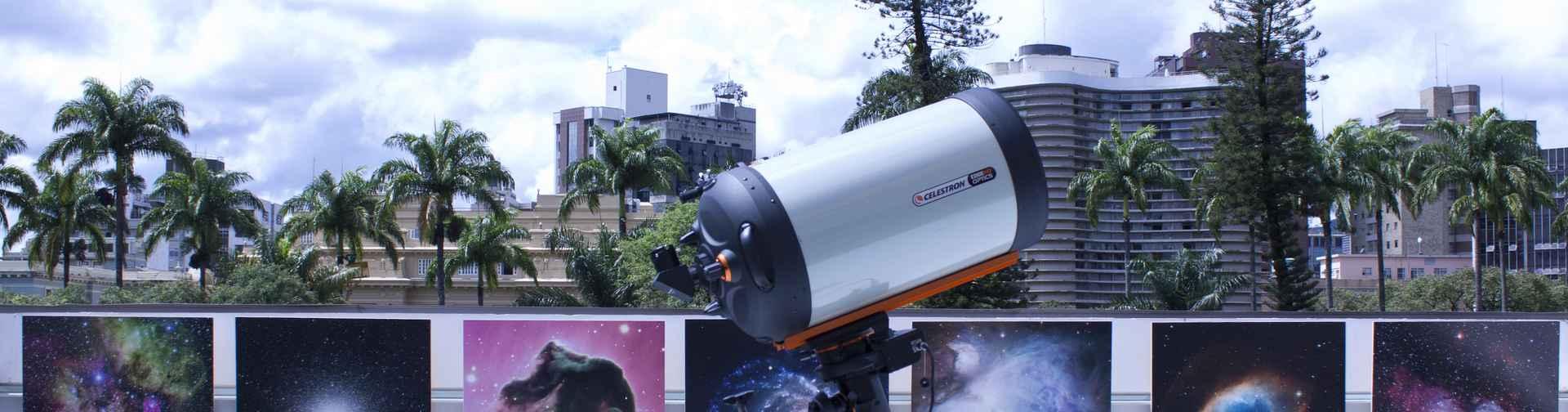 Terraço astronômico: telescópio gera imagens em alta definição