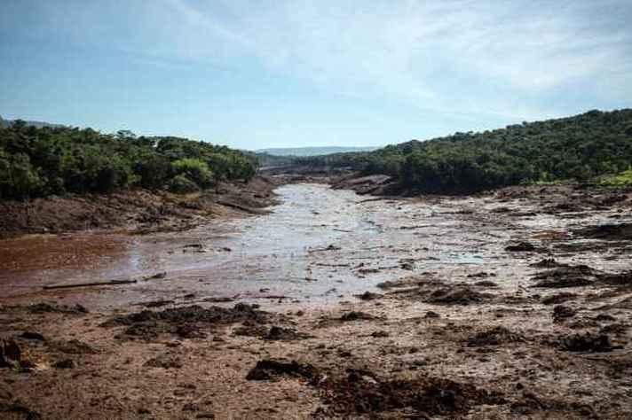 Rio Paraopeba, após rompimento da barragem da mineradora Vale, em Brumadinho.