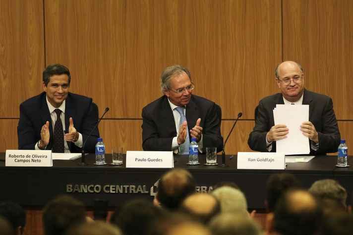 Cerimônia de posse do novo presidente do Banco Central, Roberto Campos Neto