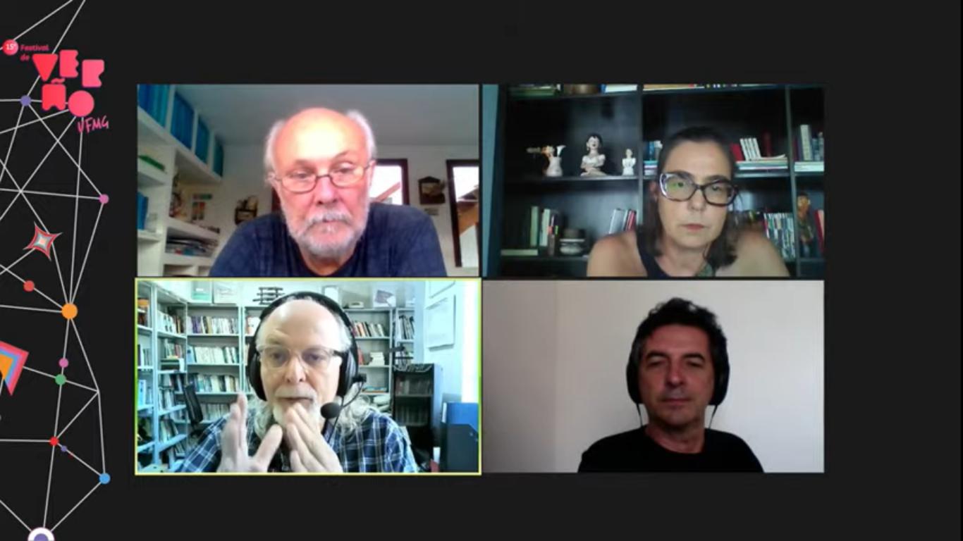 Em sentido horário, Albino Rubim, Maria Helena Cunha, Lukas Kühne e José Márcio Barros