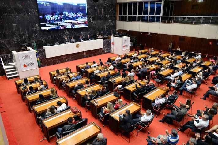 Plenário da Assembleia Legislativa de Minas Gerais, cujo modelo parlamentar é considerado inovador no país
