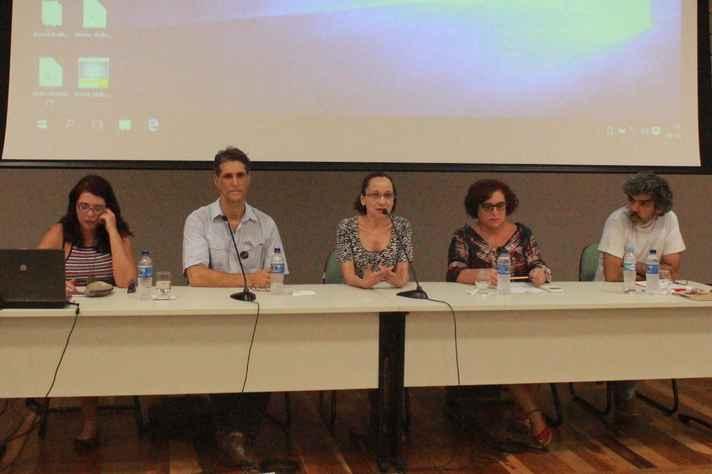 Professores Helcimara de Souza Telles, Bernardo Jefferson de Oliveira, Benigna Maria de Oliveira, Alzira de Oliveira Jorge e Adriano Nasciment