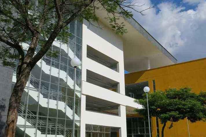Lateral do prédio CAD 3, onde acontece o evento.