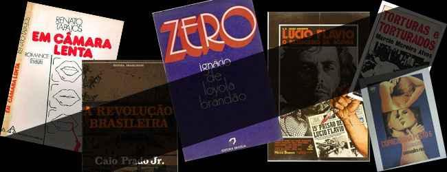 Alguns dos livros censurados pela ditadura militar brasileira