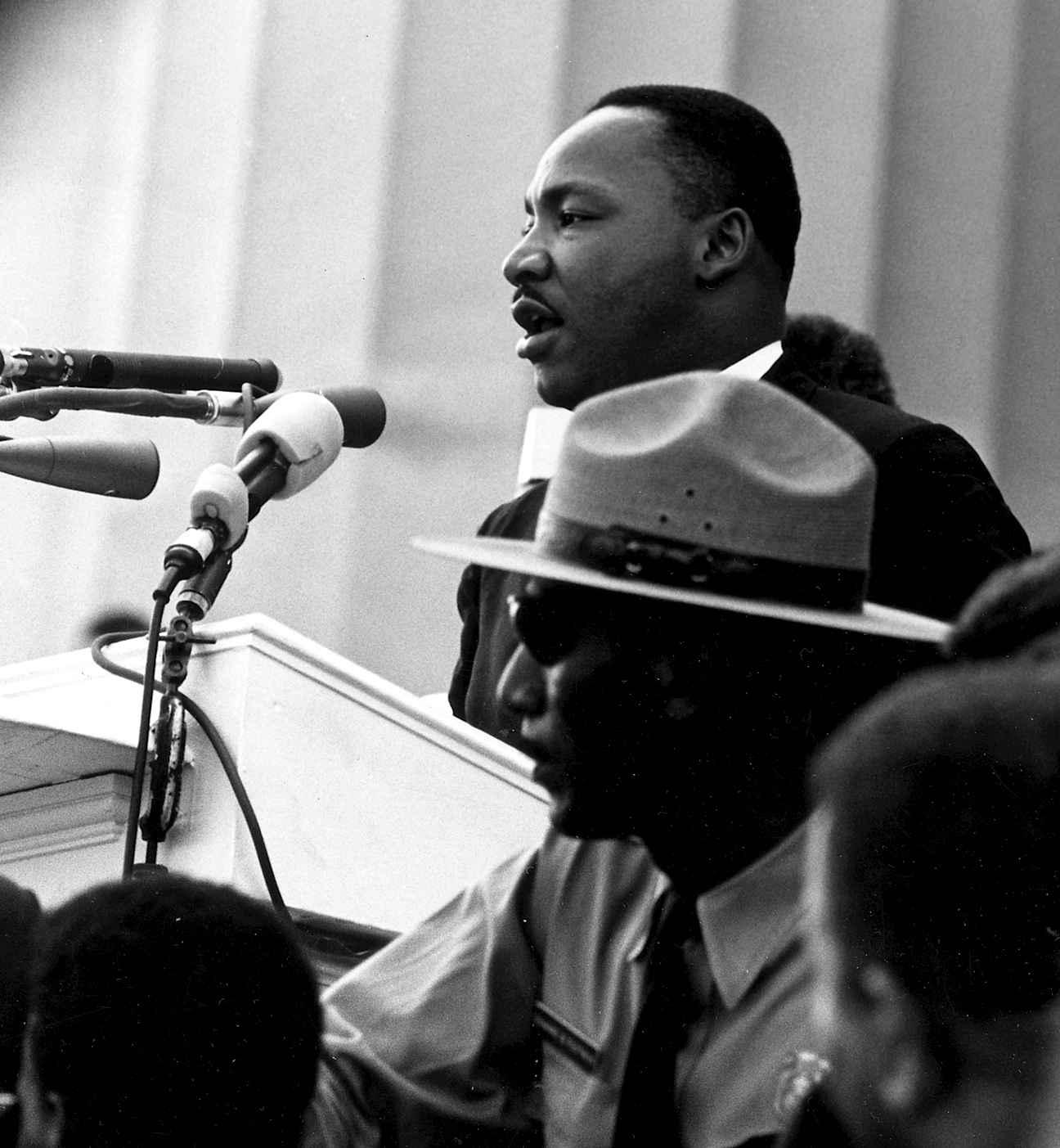 Martin Luther King, durante seu famoso discurso 'Eu tenho um sonho'