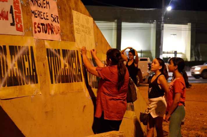 Ato Contra a Cultura do Estupro, realizado no Mato Grosso, em 2016