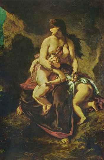 Medeia, por Eugène Delacroix