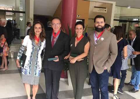 Da esquerda para direita os professores Zélia Lobato, Marcus Polignano, Claudia Mayorga Borges e André Luiz Dias