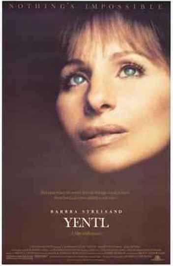 Pôster de divulgação do filme 'Yentl', comédia musical dirigida e estrelada por Barbra Streisand em 1983