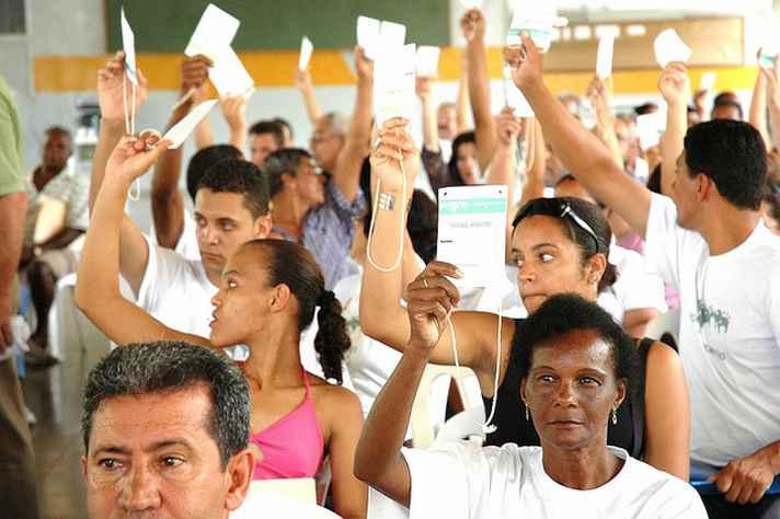 Registro de assembleia de votação do orçamento participativo