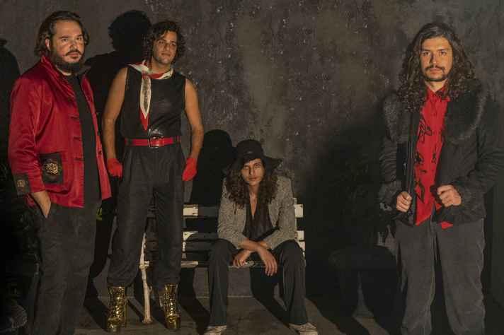 Zé Mario Pedrosa, Babo Gruppi, Saulo Ferrari e Luce Lee, integrantes da banda Ancestral Diva
