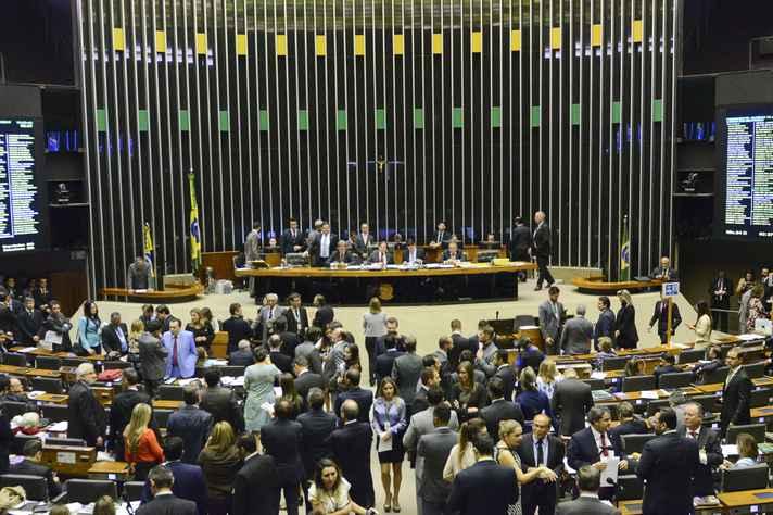 Plenário da Câmara dos Deputados durante sessão conjunta do Congresso Nacional em agosto último