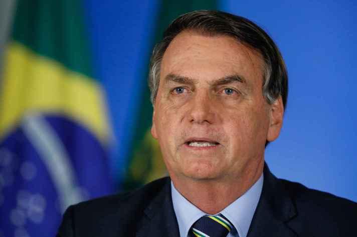 Presidente Bolsonaro, durante pronunciamento à nação, na semana passada