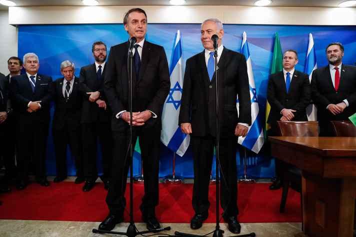 7702851e3 presidente Bolsonaro e o primeiro-ministro israelense, Benajmin Netanyahu