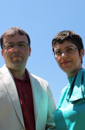 Os professores Ângelo de Fátima e Luzia Modolo