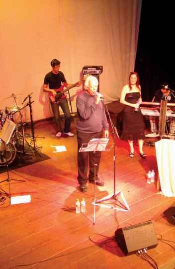Robson Santos em show em Ouro Preto: inspiração espontânea