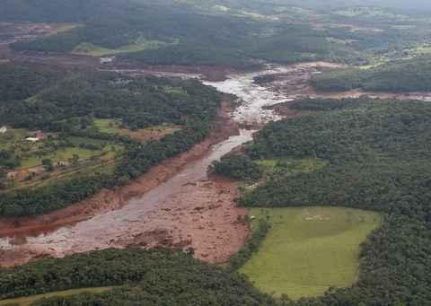 Região atingida pelo rompimento da barragem da Vale em Brumadinho