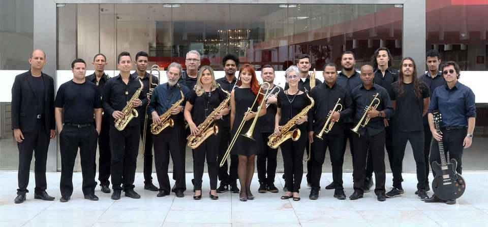 Big Band do Cefart (Harrison Santos à esquerda)