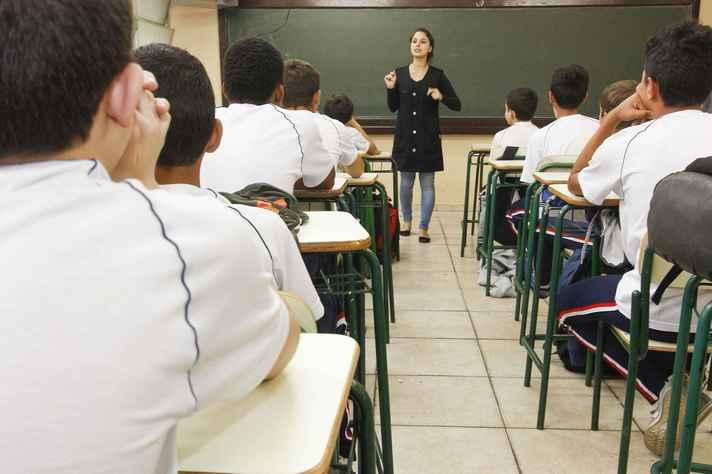Sala de aula em Curitiba: