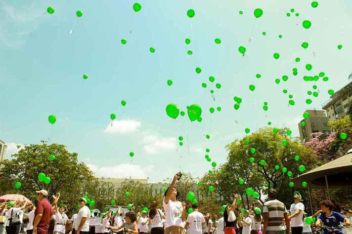 Cor verde representa a doação de órgãos em todo o mundo