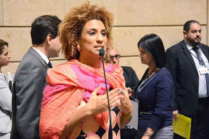 A vereadora Marielle Franco (PSOL) no plenário da Câmara Foto