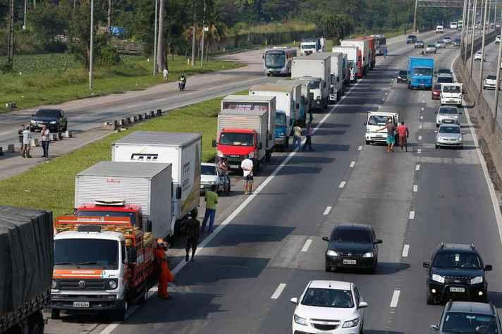 Caminhoneiros pararam o país em 2018