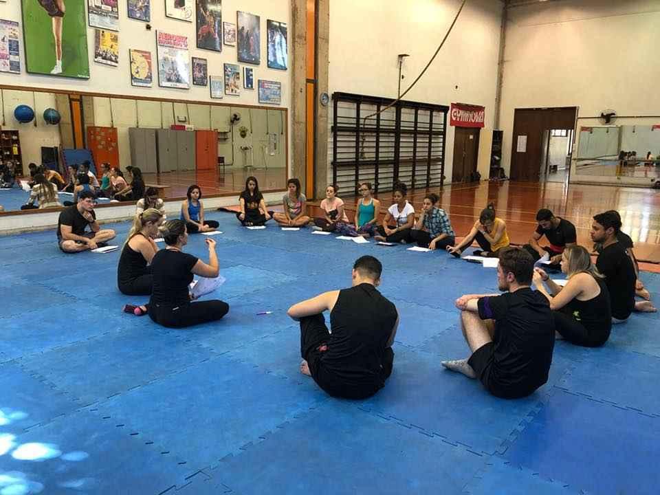 Aula de Pilates na UFMG antes da suspensão das atividades presenciais