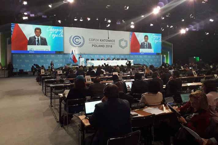 Conferência do Clima, em Katowice, na Polônia