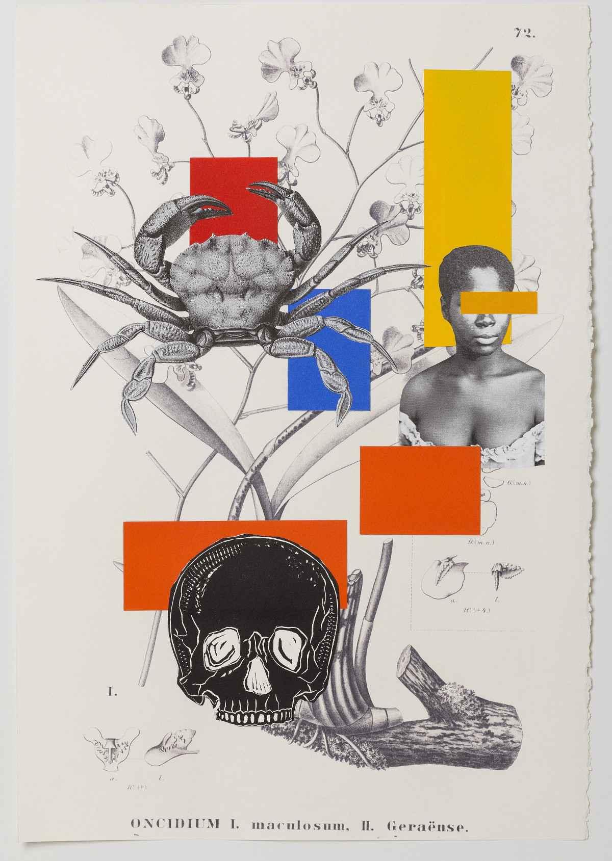 Obra da exposição Histórias Revisitadas de Rosana Paulino