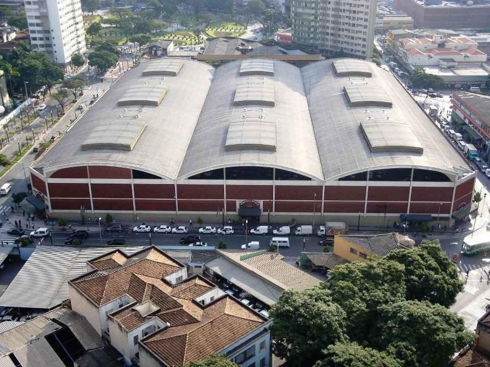 Vista aérea do Mercado Central, em Belo Horizonte