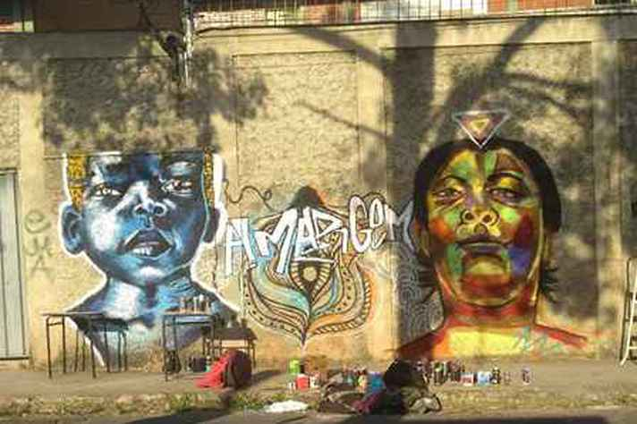 Foto tirada pela pesquisadora durante seu trabalho de campo que investigou cotidiano das grafiteiras em BH