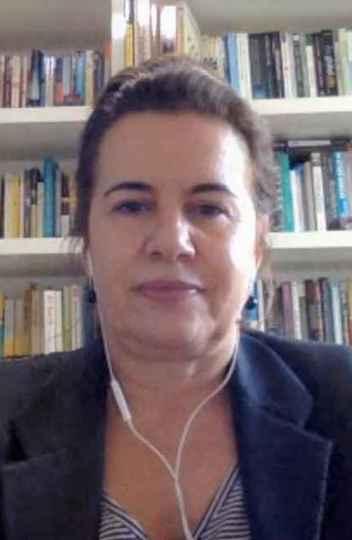 Sandra Goulart Almeida em entrevista remota
