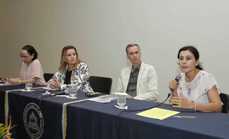 A partir da esquerda, Benigna Oliveira, Sandra Goulart Almeida, Alessandro Moreira e Maria José Flores