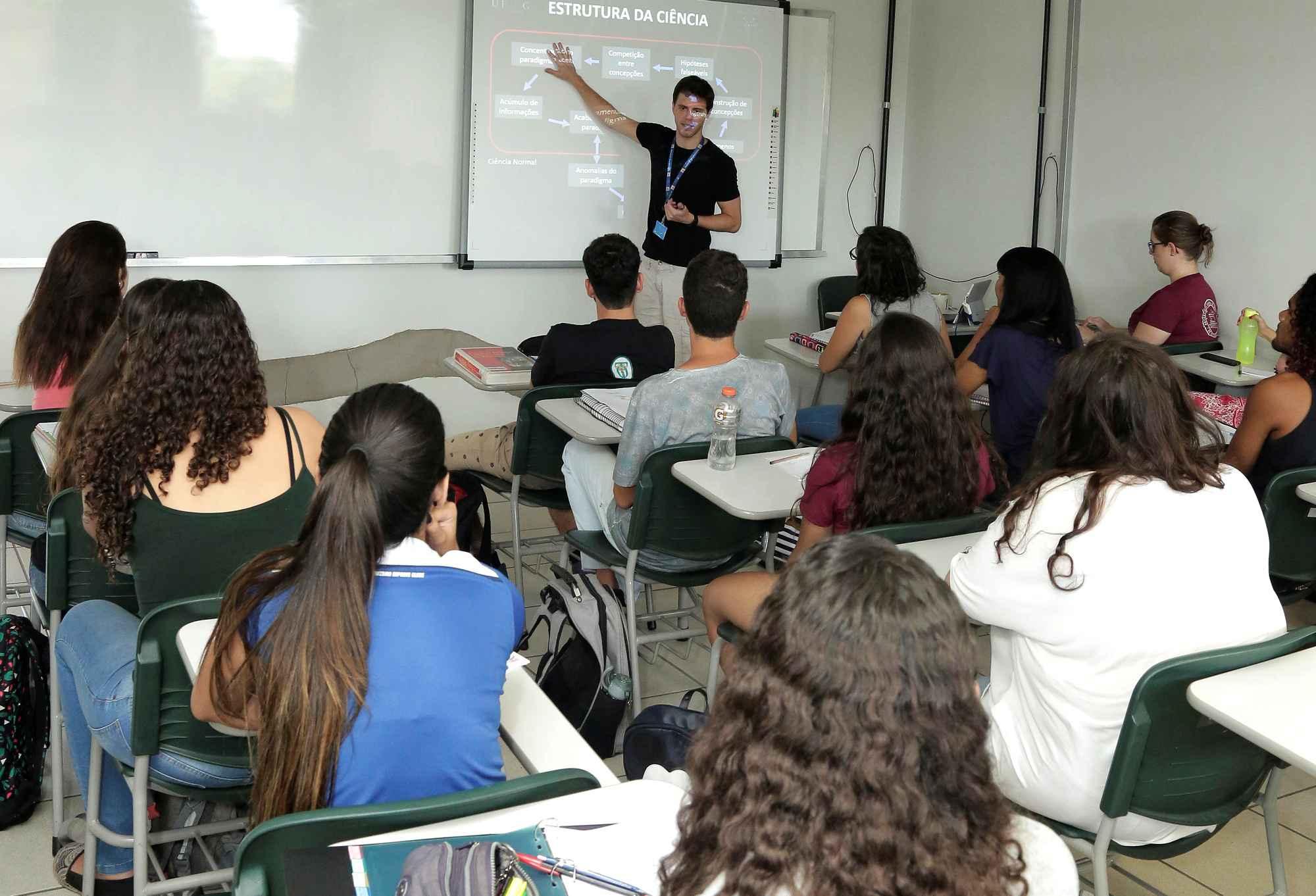Sala de aula no campus Pampulha