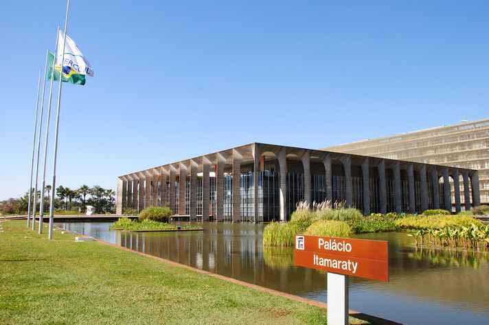 Palácio Itamaraty, em Brasília: sede do Ministério das Relações Exteriores