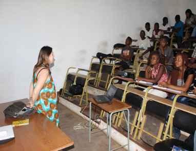 Professora Yaci-Ara Froser em Missão de Trabalho em Moçambique em 2017