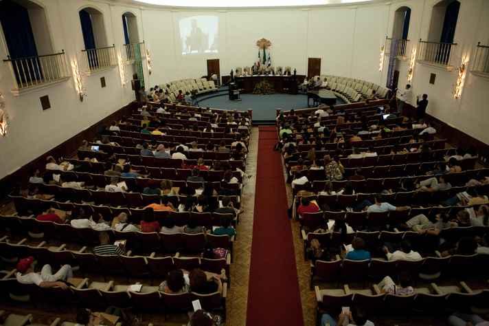 Salão Nobre da Reitoria da UFBA recebe atividades do Fórum Social Mundial
