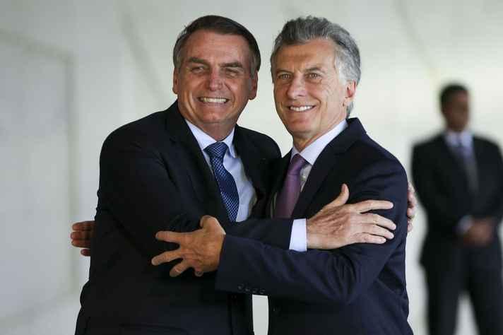 Presidentes do Brasil e Argentina, Jair Bolsonaro e Maurício Macri