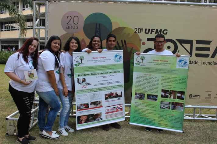 Turma de Manhuaçu desejar levar resultados do projeto de manejo de pombos para outras instituições