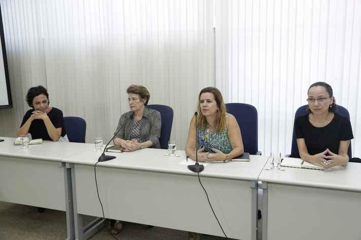 Claudia Mayorga, Adelina Reis, Sandra Almeida e Benigna Oliveira: parcerias dentro e fora da UFMG